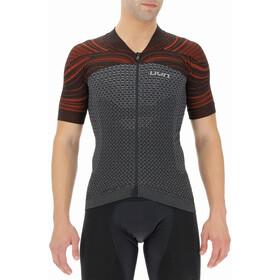 UYN Coolboost Kurzarm Biking Shirt Herren sharkskin/red wagon